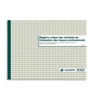 EXACOMPTA Registre évaluation des risques professionnels format 24 x 32 cm, 60 pages 6617E