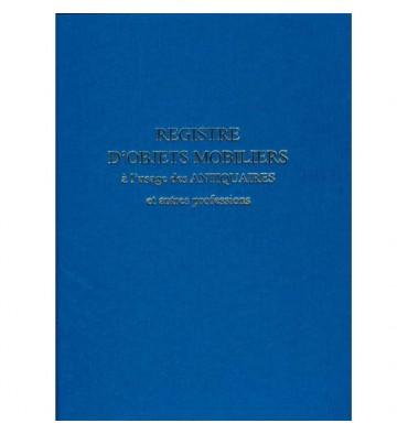 ELVE Registre objet mobilier usage antiquaire & brocanteur 104 pages, noir, format 25 x 32 cm