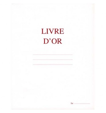 ELVE Livre d'Or format 220 x 170 mm Blanc 148 pages. Couverture aspect cuir