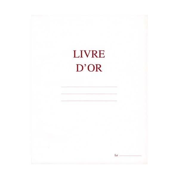 ELVE Livre d'Or format 220 x 170 mm Blanc 148 pages. Couverture aspect cuir