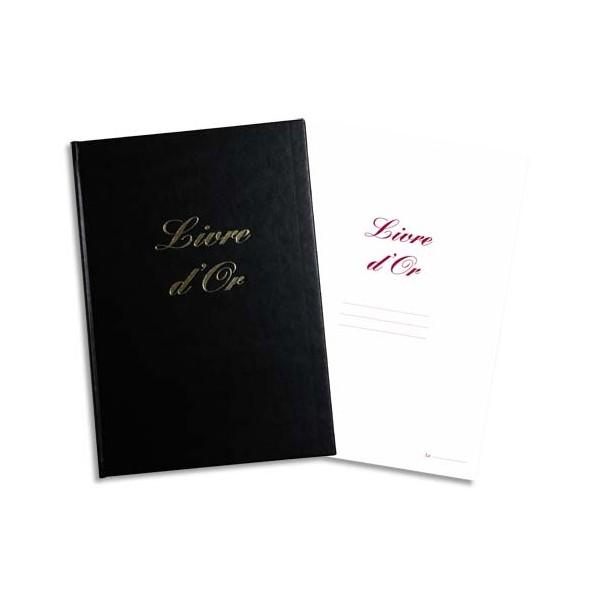 ELVE Livre d'Or format 220 x 170 mm Noir 148 pages. Couverture aspect cuir