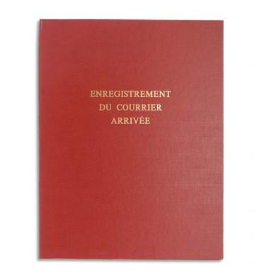 LE DAUPHIN Piqûre pour enregistrement du courrier arrivée 80 pages couverture rouge en 24 x 32 cm
