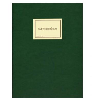 ELVE Registre pour enregistrement du courrier départ 150 pages en 25 x 32 cm. Coloris vert SP520