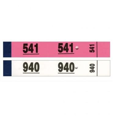 ELVE Blocs de 50 tickets vestiaire 3 x 20 cm blanc