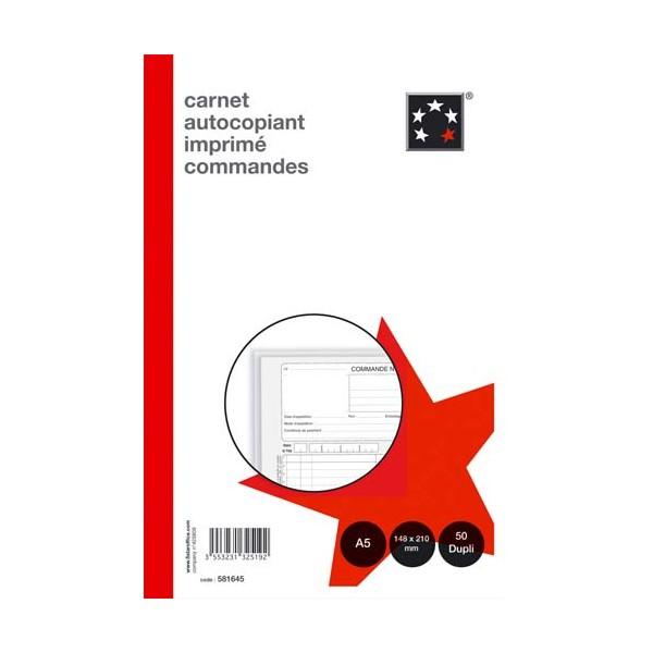 5 ETOILES Manifold autocopiant ordre 148 x 210 cm 50 feuillets dupli (photo)