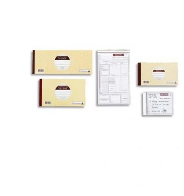 LE DAUPHIN Carnet reçu sans TVA 10,5 x 18 cm 50 feuillets autocopiants dupli
