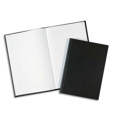 ELVE Registre toilé folioté 1 à 200 format 32 x 25 cm, 200 pages quadrillé 5x5. Coloris noir