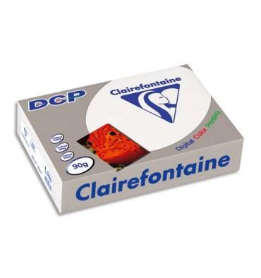 CLAIREFONTAINE Ramette de 500 feuilles papier blanc DCP copieur, laser, jet d encre couleur 90g A3