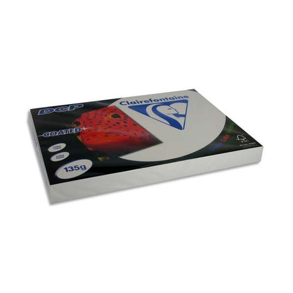 CLAIREFONTAINE Ramette 250 feuilles A3 135g DCP Coated brillant 2 faces