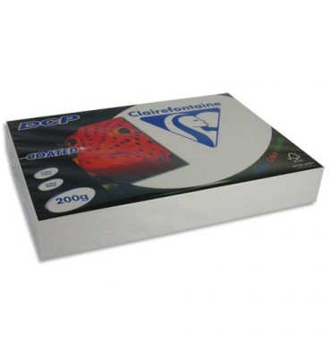 CLAIREFONTAINE Ramette 250 feuilles A4 200g DCP Coated brillant 2 faces