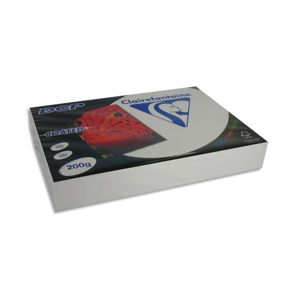 CLAIREFONTAINE Ramette 250 feuilles A3 200g DCP Coated brillant 2 faces