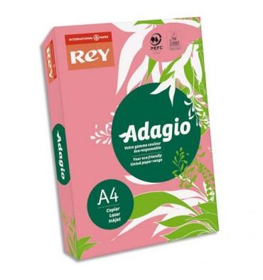 REY BY PAPYRUS Ramette de 500 feuilles papier couleur ADAGIO copieur, laser, jet d'encre 80g A4 fluo framboise