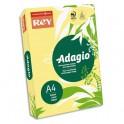 REY BY PAPYRUS Ramette 500 feuilles papier couleur ADAGIO copieur, laser, jet d'encre 80g format A4 fluo banane