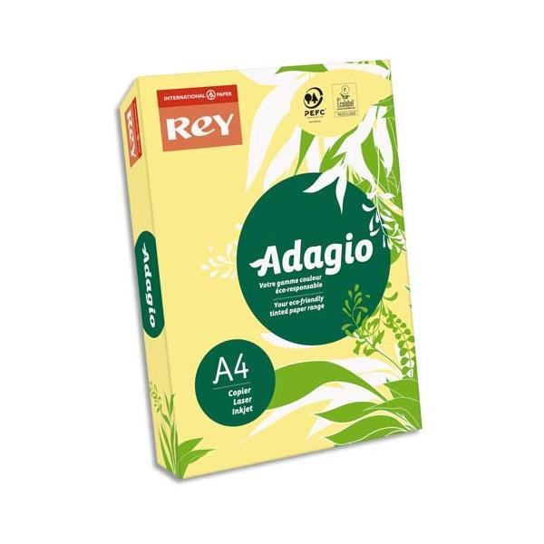 REY BY PAPYRUS Ramette 500 feuilles papier couleur ADAGIO copieur, laser, jet d'encre 80g