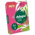 REY BY PAPYRUS Ramette 500 feuilles papier couleur ADAGIO+ copieur, laser, jet d'encre 80g format A4 grenadine intense