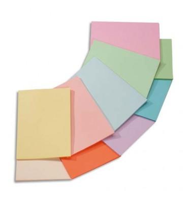 CLAIREFONTAINE Ramette 5x100 feuilles papier couleur Trophée 80g A4 assortis pastel