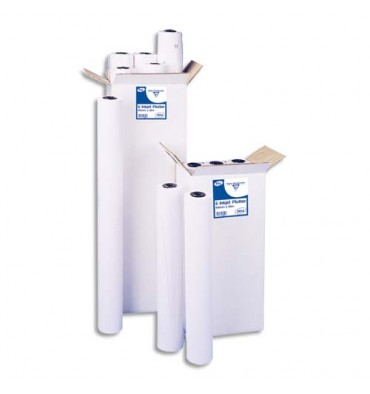CLAIREFONTAINE Bobines papier blanc laize pour traceur 80g 0,914 x 50 m