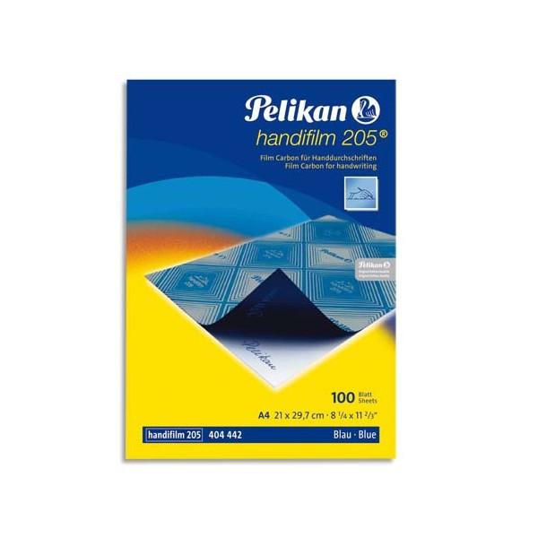 PELIKAN Pochette de 10 films bleues carbone A4 Plenticopy pour écriture main, dos ciré
