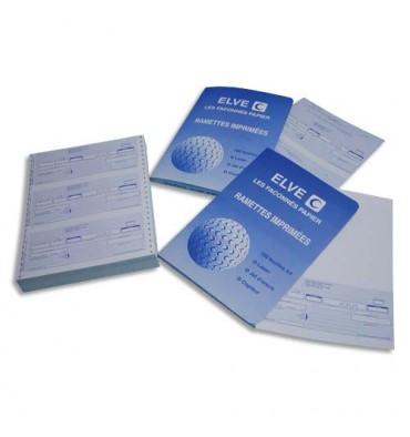 ELVE Paquet de 300 lettres de change, 3 traites pré-découpées par feuille. Format 21 x 29,7 cm