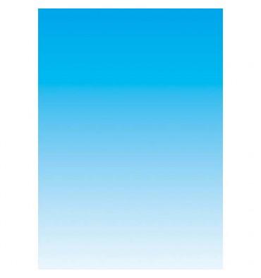DECADRY Boîte de 100 feuilles papier couleur copieur,laser, jet d'encre recto 80g A4 dégradé bleu