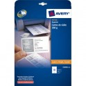 AVERY Pochette de 250 cartes de visite 8,5 x 5,4 cm 200g Quick & Clean multifonctions finition mate