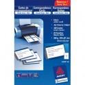 AVERY Pochette de 200 cartes de visite ( 8,5 x 5,4 cm) 260g Quick & Clean jet d'encre mat qualité supérieure