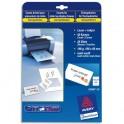 AVERY Pochette de 250 cartes de visite 8,5 x 5,4 cm 270g Quick & Clean, impression recto verso