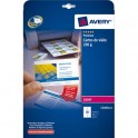 AVERY Pochette de 100 cartes de visite 8,5 x 5,4 cm 220g Quick & Clean laser couleur & monochrome finition mate