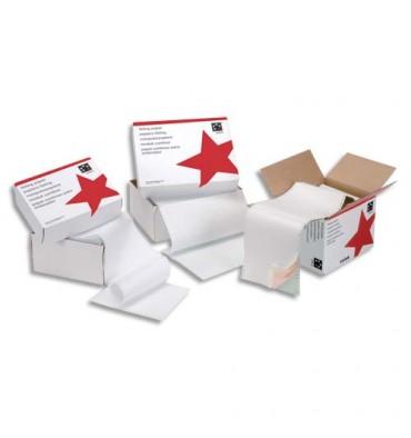 5 ETOILES Boîte de 12 paravents listing 240 x 12 pouce 2+0 blanc bande caroll détachable