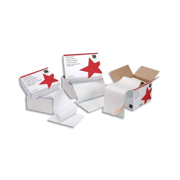 5 ETOILES Boîte de 2500 paravents listing format 380 x 11 pouces 1 exemplaire blanc 70g bande caroll fixe (photo)