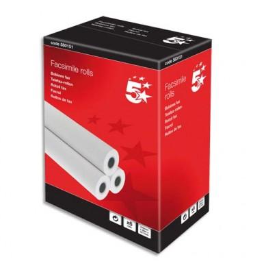 5 ETOILES Bobines pour télécopieur - format 210 x 12,7 mm x 30 m