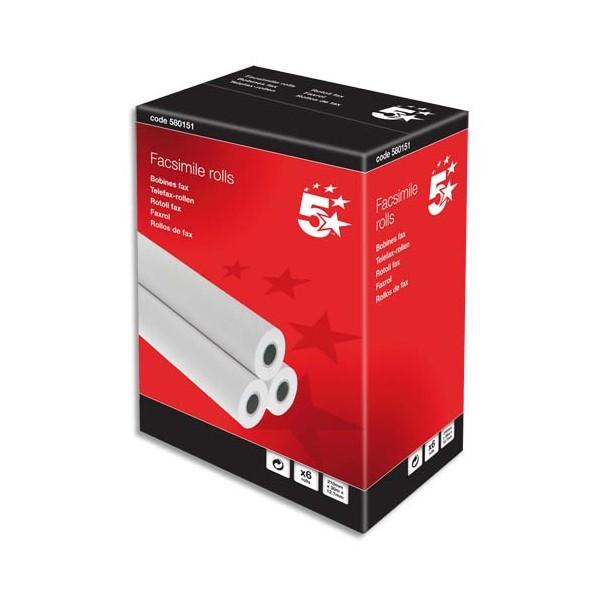 5 ETOILES Bobines pour télécopieur - format 210 x 12,7 mm x 30 m (photo)