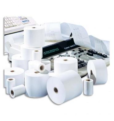 EXACOMPTA Bobines pour calculatrice 1 pli offset extra blanc 57 x 25 mm sans mandrin - 60g