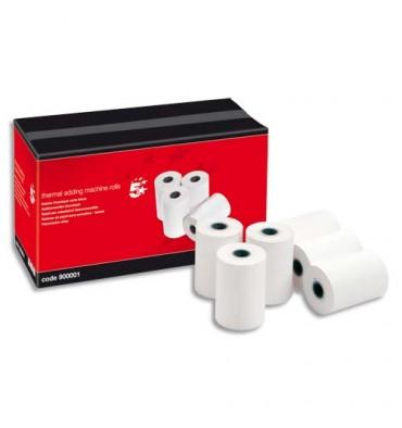 5 ETOILES Bobine cartes bancaires thermiques 1 pli, dimensions 57 x 40 x 12,7 mm