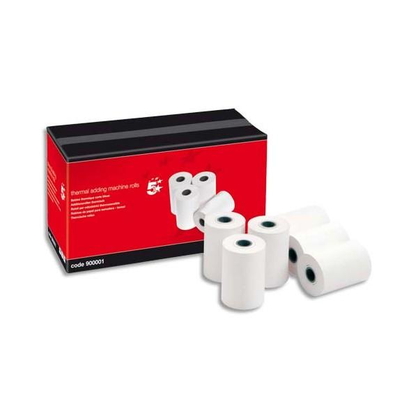 5 ETOILES Bobine cartes bancaires thermiques 1 pli, dimensions 57 x 40 x 12,7 mm (photo)