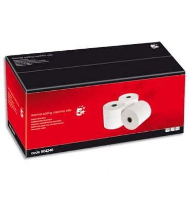 5 ETOILES Bobine cartes bancaires thermiques 1 pli, dimensions 57 x 60 x 12 mm