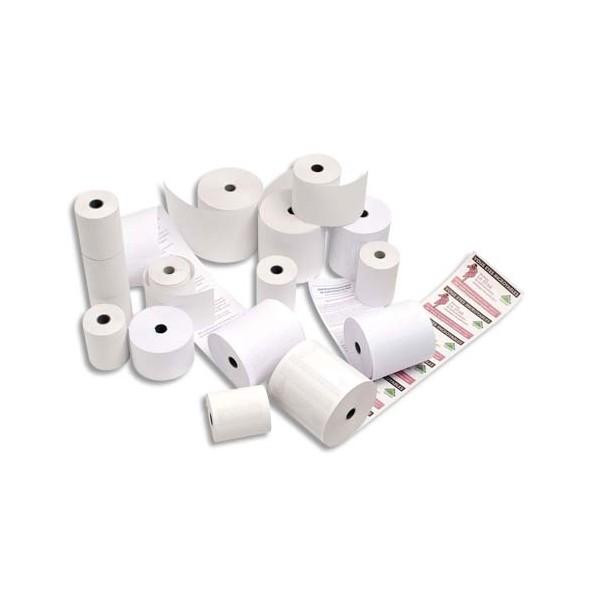 EXACOMPTA Bobine pour caisses enregistreuses papier blanc 60g - 76 x 70 x 12 mm
