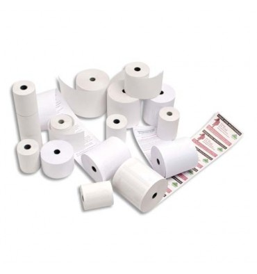 EXACOMPTA Bobines caisses enregistreuses papier thermique 55g 80 x 80 x 12 mm, 78m