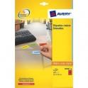 AVERY Boîte de 960 étiquettes laser 45,7 x 21,2 mm rouge L6038-20