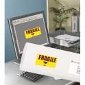 AVERY Boîte de 350 étiquettes laser rectangulaire enlevable 99,1 x 38,1 mm coloris jaune fluo L7263Y-25