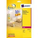 AVERY Boîte de 300 étiquettes laser jaune fluo diamètre 63,5 mmL7670Y-25