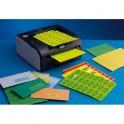 TECHMAY LOGETIQ Boîte de 400 étiquettes couleur 105 x 148,5 mm bleu vif sur format A4