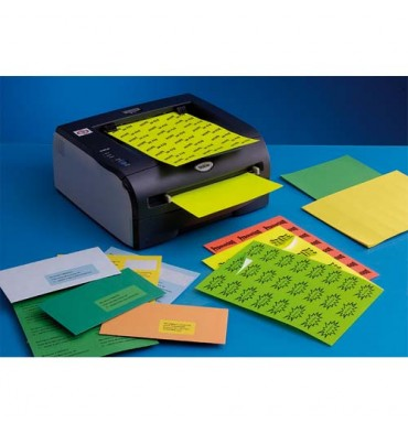 TECHMAY LOGETIQ Boîte de 100 étiquettes couleur 210 x 297 mm bleu