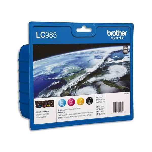 BROTHER Value pack jet d'encre couleur LC985VALBPDR