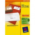 AVERY Boîte de 1400 étiquettes blanches multi-usages 105 x 42,3 mm - pour laser, jet d'encre et copieur