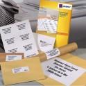 AVERY Boîte de 1600 étiquettes copieur coins carrés 105 x 37 mm blanc DP167-100