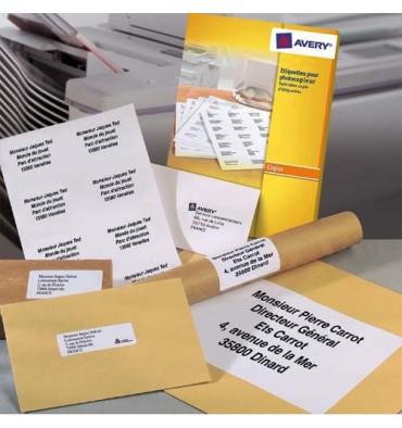 AVERY Boîte de 1400 étiquettes copieur coins carrés 105 x 39 mm blanc DP143-100