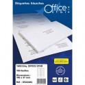 OFFICE STAR Boîte de 1600 étiquettes multi-usage blanches 105 x 37 mm OS43484