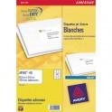 AVERY Boîte de 525 étiquettes adresses jet d'encre 63,5 x 38,1 mm blanches J8160-25
