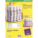 AVERY Boîte de 540 étiquettes ultra résistante métalliques 63,5 x 29,6 mm impression laser L6011-20